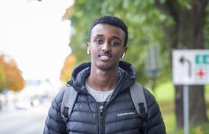 Abdi Hassan, 18 år, student, Skönsberg.