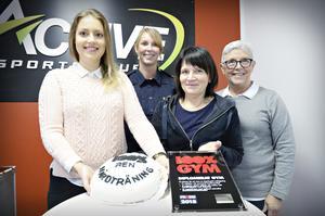 Marika Gunhaga från Active Sports club i Kramfors, Sara Devall från polisen, Elisabeth Svanberg friskvårdsutvecklare i kommunen och Christina Edholm från Kusthallen i Nordingrå.