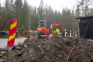I Jonskär har Stadsnätsbolaget redan grävt för fiber.