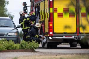 En knapp timme efter larmet inkom till räddningstjänsten lämnade de olycksplatsen.