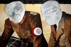 Anders Sunnas verk som har deltar med i Moderna museet utställning där samtidskonstnärerna reflektera över det svenska samhället. Till sommaren kommer han till Open Art och Örebro. Foto: Janerik Henriksson / TT