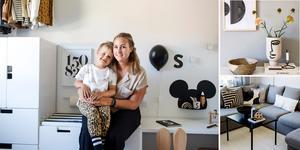 Moa Nyberg lägger ut bilder på sitt hem på Instagram.