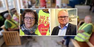 Barbro Mikaelsson, BB-ockupationen är en av insändarförfattarna som i insändaren kritiserar regionrådet Glenn Nordlunds (S) uttalande om att BB-ockupationen försvårar rekrytering till Sollefteå sjukhus. Foto: Jonny Dahlgren och Klas Leffler. Montage: Birgitta Strandh.