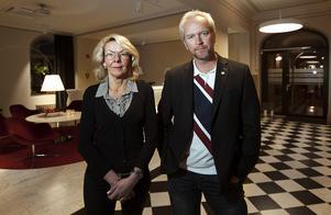 Anita Öberg och Mats Ågebrant, kommunikationsansvarig på Näringsbolaget.