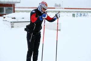 Ingemarsdotter i träning på hemmaplan inför helgens tävlingar i Lahtis.