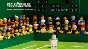 Den 5 juli 1980 vann 24-årige Björn Borg sin femte raka Wimbledonseger efter en mycket spännande final. Foto: Pug Förlag