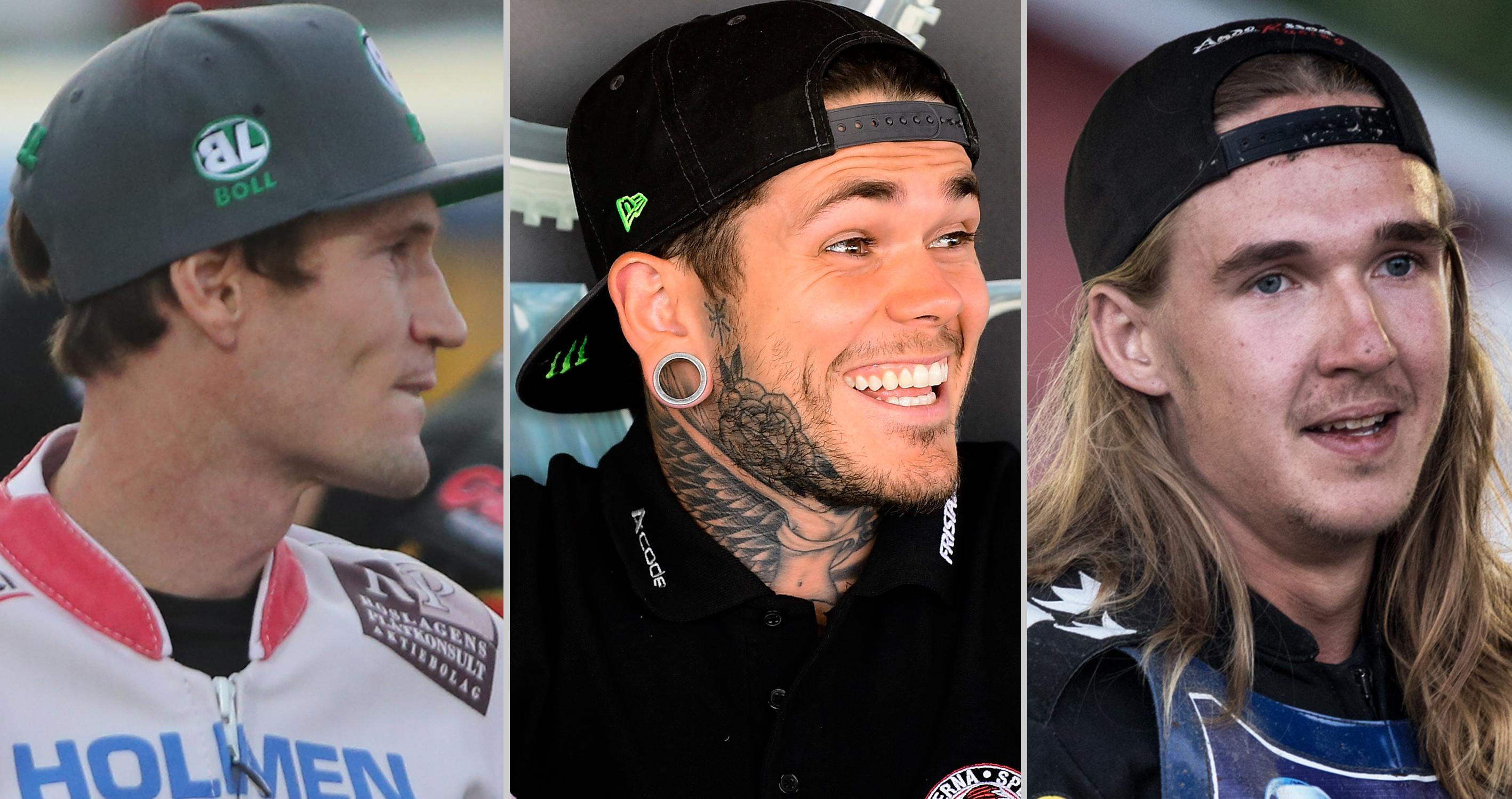 Jason Doyle, Tai Woffinden and Joel Andersson - Three hot drivers before 2019. Stock Photo: TT / DT / NT