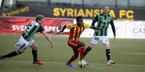 Syrianskas Lumala Abdu i match mot Gais.