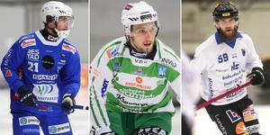 Emil Viklund, Simon Jansson och August Elebring är tre av spelarna som tar plats i Veckans lag. Foto: Andreas Tagg / Rikard Bäckman