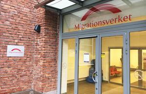 Migrationsverkets lokal i Västerås, där Gentas ärende behandlas.