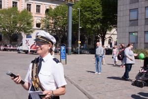 Boel Meijer var speaker under lördagen och presenterade alla musikgrupper som var med i paraden, som var 2,5 kilometer lång.