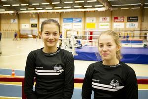 Casandra Johnsson och Hanna Elfström trivdes även fast de inte var så nöjda med sina egna resultat.