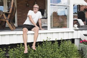 Michael Lindström i Överhörnäs njuter av sin semester.