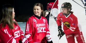 Söråkers Erica Persson och Grycksbos Tova Grönoset.