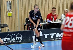 Sabrina Strandberg i aktion i Sundsvalls dress. Nästa säsong är hon åter i Örnsköldsvik. Bild: Rickard Pettersson/arkiv.