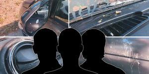 Tre tonårskillar åtalas misstänkta för skadegörelse. Bild:  Polisens utredning