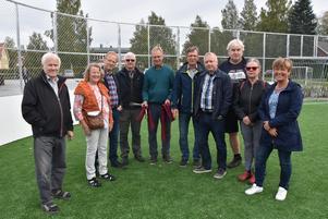 Delar av stiftelsens styrelse. Från vänster John Nilsson, Kristina Åström, Thomas Nordström, Sven-Erik Gidlund, Bengt Rönnqvist, Hans-Göran Sjölund, Mattias Öberg, Lars-Åke Persson, Kristin Ögren och Birgith Olsson Johansson.