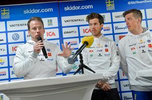 Emil Jönsson, Marcus Hellner och Calle Halfvarsson vid ett tidigare tillfälle.