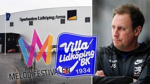 Melodifestivalen kommer till Lidköping i februari. Då tvingas Villa ut till Isstadion. Foto: Christoffer Million / Rikard Bäckman