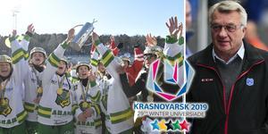 Slutspelet i damernas elitserie kommer att spelas klart redan i februari för att spelarna ska kunna åka till Universiaden i Ryssland i mars. Bild: TT / Rikard Bäckman