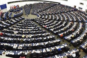 EU-parlamentet i Strasbourg sammanträder, en bild över det europeiska samarbetet.