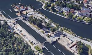 Så här såg Slussområdet ut strax efter Mälarprojektets start. Bild: Google maps