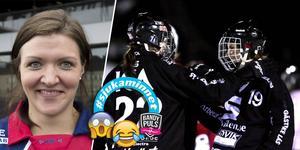 Emma Kronberg och Johanna Pettersson firar ett mål tillsammans i SAIK – men vad hände när Kronberg bytte till Kareby?