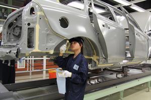 Kina är inte ett så slutet land som det ofta beskrivs. Volvos fabrik i kinesiska Chengdu har varit igång sedan 2013 och siktar i år på att bygga 75000 bilar. Foto Karin Olander / TT