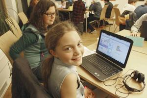 Även våren 2015 hölls ett en kurs i programmering på Sandbacka Park. Då var Elsa Malmkvist en av deltagarna.