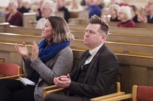 Kommunstyrelsens ordförande Per Nyhlén talade i Örnsköldsviks Kyrka.
