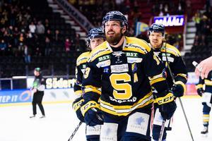 Mikael Ahlén gjorde viktiga 1-1 för SSK mot Björklöven. Foto: Simon Hastegård / Bildbyrån
