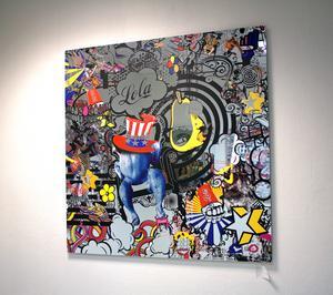 Italienskan Francesca Falli är en av de internationella konstnärer som ställer ut på Galleri Soho i Västerås.