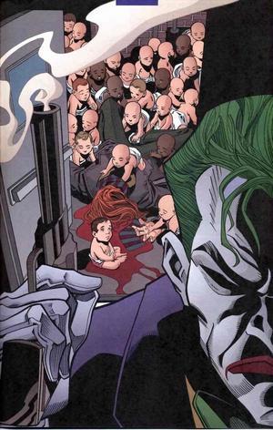 Kommissarie Gordons hustru Sarah Essen Gordon blir mördad av Jokern när hon försöker rädda livet på en grupp spädbarn från hans urskillningslösa våld. Foto: DC Comics/Wiki Commons