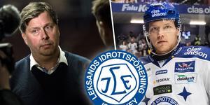Leksands GM Thomas Johansson och Tor Immo. Foto: Lars Dafgård//Daniel Eriksson/Bildbyrån.