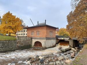 Vårt vackra turbinhus vid Svartån. Bild inskickad av Anita Dahllöv.