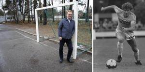 Per Wengle är GIF-spelaren som en gång gjorde mål på Manchester United. Laget hette GIF/BIF då och han hette Eriksson och var 28 år gammal. 35 år senare minns han fortfarande hur träffen kändes. Foto: Magnus Hägerborn/Arkiv