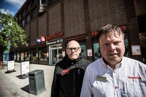 Lasse Westin på Centrala stadsrum och Jonas Thunstedt, butikschef på Hemköp city hade möte med kommunen där man beskrev situationen i området omkring Knutpunkten och södra centrum.