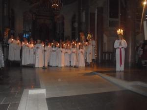 Luciakröning i Härnösands Domkyrka