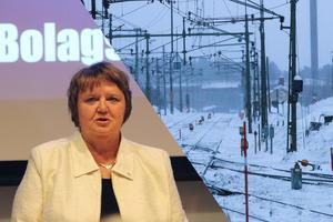 AnnSofie Andersson och Östersunds kommun vill byta ut Inlandsbanans styrelseordförande. Bilden är ett montage.