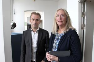 Regiondirektör Johan Färnstrand och regionrådet Eva Lindberg, S,  är redo att lägga fram sin plan för att få balans i regionens ekonomi.