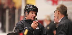 Brynäs tränare Magnus Sundquist i båset.