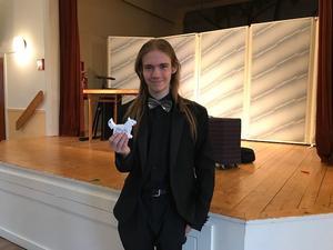 Trollkarlen Gabriel är 18 år och bor i Älvkarleby kommun. Foto: Berith Davidsson