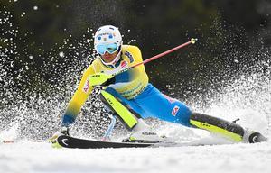 André Myhrer var överlägsen i herrarnas slalom.
