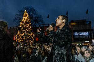 Loreen på Stora torget. Foto: Micke Grönberg/Sveriges Radio