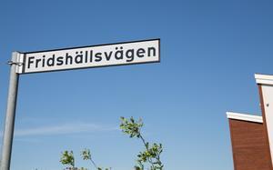 Fridshällsvägen ligger norr om Brunnsäng, parallellt med Viksbergsvägen.