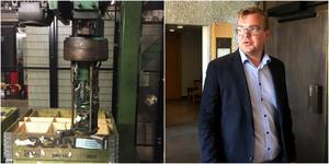 Robotarmen till vänster dödade den 54-årige operatören på Scania. Kammaråklagare Marcus Ekman har åtalat en i dag 59-årig kollega till honom på Scania för vållande till annans död. Foto: Polisen/Torbjörn Granström