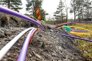 Fiberuppkopplingen slutade fungera för många abonnenter i Dalarna under måndagskvällen. OBS: Bilden är tagen i ett annat sammanhang.  Foto: Anna Müller