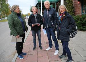 Anne - Maria Herrlin Lars Ambrosiusson, Lars Nises och Margit Kallner var alla på mötet i Mora som arrangerades av Riksförbundet enskilda vägar.