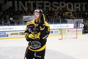 Lukas Zetterberg tackade av hemstaden Västerås efter totalt 27 mål den gångna säsongen för VIK. Foto: Tobias Sterner / Bildbyrån