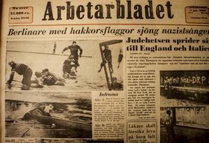 Arbetarbladets förstasida från 4 januari 1960.
